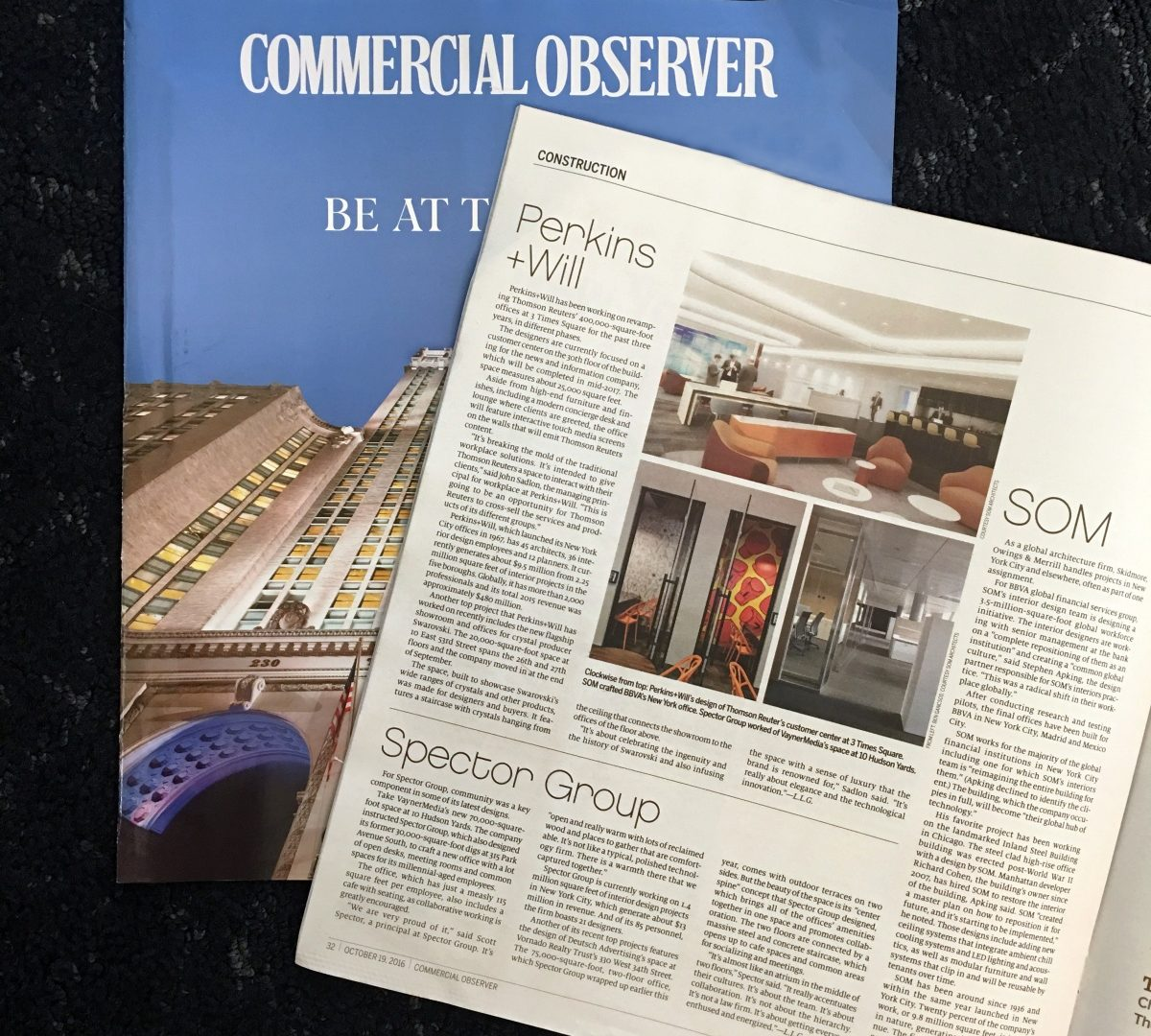 Spector Group Ranks in Commercial Observer's Top 10 Interior Architects